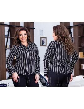 Рубашка на молнии в полоску р. 48-54 черная