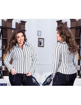 Рубашка на молнии в полоску р. 48-54 белая