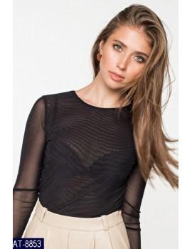 Блуза сетка, р. 42-46 черная
