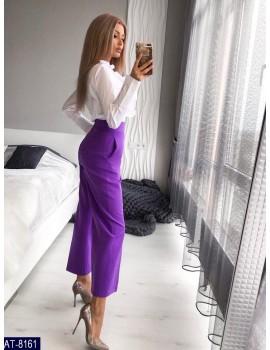 Укороченные расклешенные женские брюки р. 40-46 Фиолет