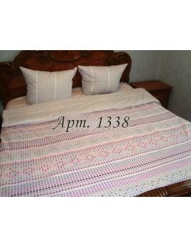 Двуспальный комплект постельного белья из бязи, Орнамент петельки, Арт. 1338