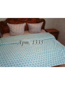Двуспальный комплект постельного белья из бязи, с геометрическим рисунком Арт. 1335