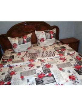 Двуспальный комплект постельного белья из бязи, Арт. 1328