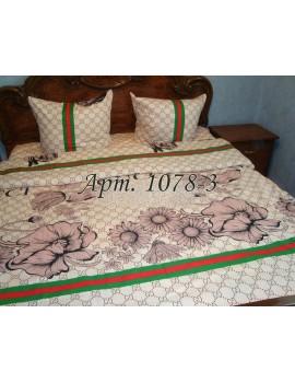 Двуспальный комплект постельного белья из бязи,в стиле Гуччи, бежевое Арт. 1078-3