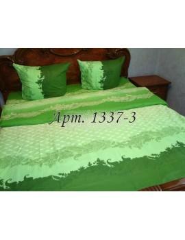Евро-комплект постельного белья из бязи, Зеленое, Арт. 1337-3