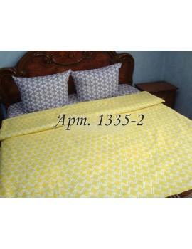 Евро-комплект постельного белья из бязи, с геометрическим узором, Арт. 1335-2