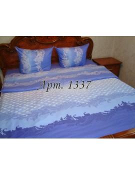 Евро-комплект постельного белья из бязи, Синее, Арт. 1337