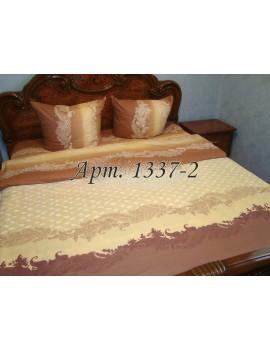 Евро-комплект постельного белья из бязи, Бежевое, Арт. 1337-2