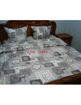 Евро-комплект постельного белья из бязи, Арт. 1004-2