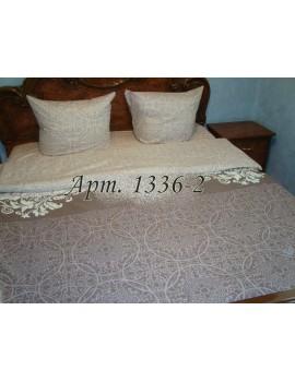Евро-комплект постельного белья из бязи, абстракция в бежевых тонах Арт. 1336-2