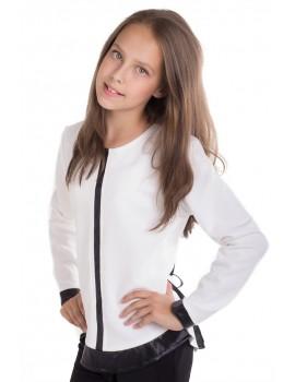 Блуза Аделина, белый размер 134