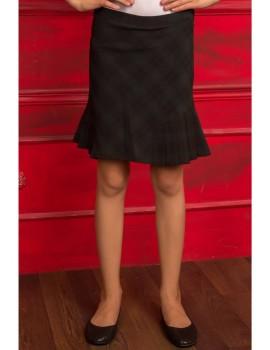 Школьная юбка в клетку Шотландка, зеленый