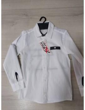 Рубашка белая школьная, р. 128, Турция, отличное качество