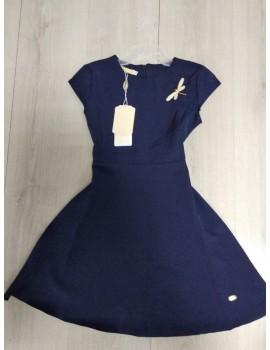 Платье школьное (сарафан) для девочки р. 128-152 темно-синий