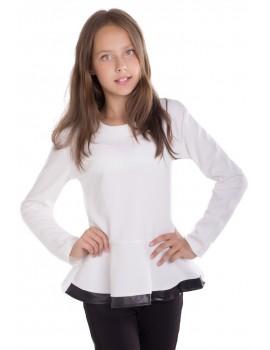 Блуза Лада, молочный, размер 36