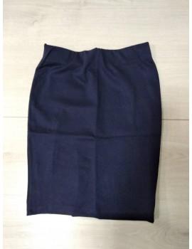 Юбка-карандаш трикотажная для девочки (очень хорошая посадка) р. 140-164 темно-синий