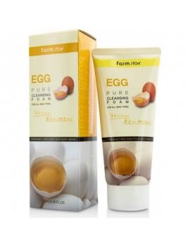 Пенка для умывания яиичная FarmStay EGG PURE CLEANSING FOAM 180мл