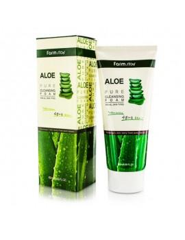 Пенка для умывания с алоэ FarmStay Aloe Pure Cleansing Foam 180 мл