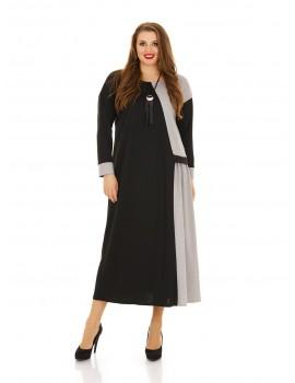 Платье ассиметричного кроя,свободный силуэт ДК-1136