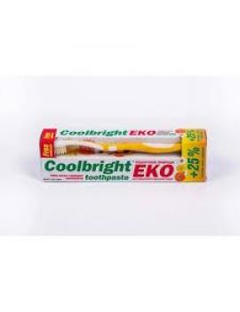Зубная паста из природных компонентов Coolbright EKO + щетка в подарок 175 г