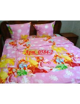 Детское постельное фея ВИНКС - большая, рисунок 3Д. Ткань ранфорс 0584-2 ( с одной наволочкой)