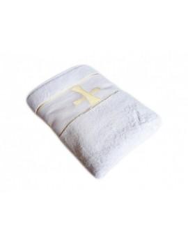 Полотенце для крещения, Крыжма. Качество! велюр+махра, золотой крестик