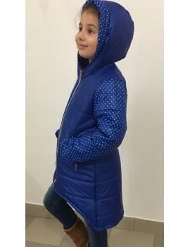 "Зимняя куртка ""Ассиметрия"" р. 116-140, цв. электрик 647"