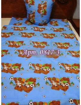 Постельное в детскую кроватку, манеж Заботливые Мишки голубой 0817-3 М