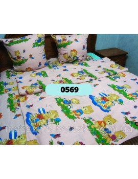 Комплект постельного в детскую кроватку, манеж МИШКИ 0569 М