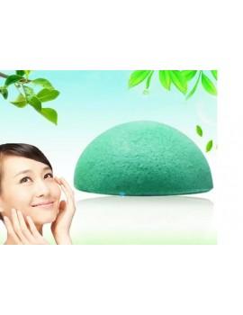 Косметический спонж конняку с экстрактом зеленого чая,  зеленый спонж конджаковый