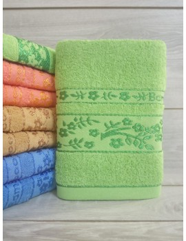 ЛИЦЕВОЕ махровое полотенце . Махровые полотенца оптом Веточка