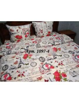 Евро-комплект постельного белья из бязи, Арт. 1097-4