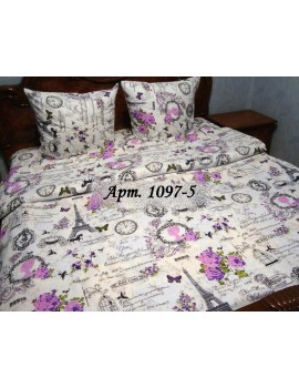Евро-комплект постельного белья из бязи, Арт. 1097-5