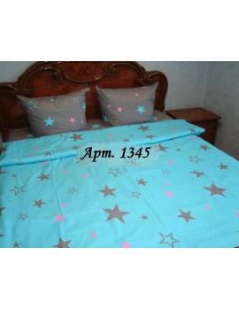 Евро-комплект постельного белья из бязи, Арт. 1345