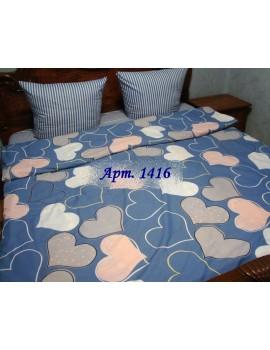 Евро-комплект постельного белья из ранфорса, рисунок 3Д, 100% хлопок, Арт. 1416
