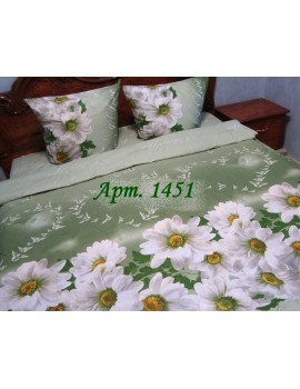 Полуторный комплект постельного белья из бязи, Арт. 1451