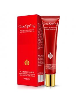 Крем для області навколо очей з екстрактом граната One Spring Red Pomegranate Fresh Moisturizing Eye Cream, 20г