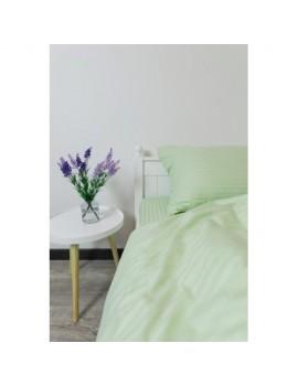 Постільна білизна з страйп-сатину, Євро розмір, колір світло-салатовий