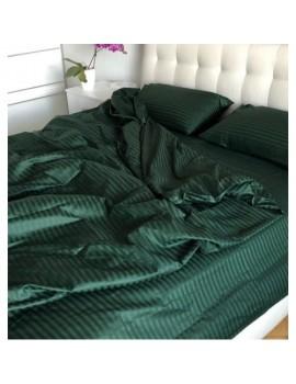 Постільна білизна з страйп-сатину, Євро розмір, колір Зелений