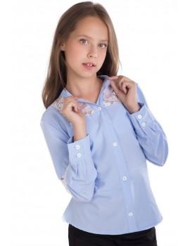 Школьная блуза Брианна, голубой размер 134, 140