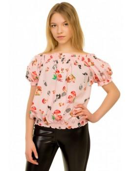 Блуза Нимфа, розовый