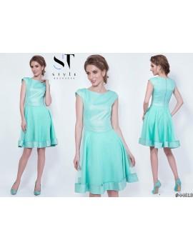 Эффектное платье с расклешенной юбкой Арт. 44619 Мятное