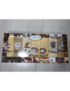 """Набор-неделька кухонных полотенец """"Кофе"""" 7 штук! в подарочной коробке (Ягмур Текстиль)"""