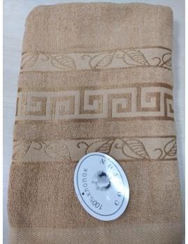 """БАННОЕ махровое полотенце """"Греция-листик"""", Венгрия (цвет беж)"""