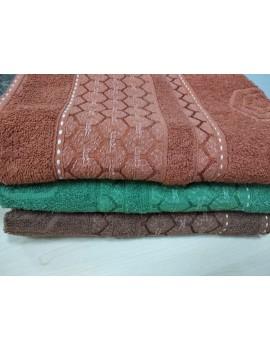 """БАННОЕ махровое полотенце """"Узбекистан"""", Венгрия (цвет Шоколад)"""