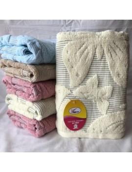 БАННОЕ полотенце Лен+махрв Бабочки. Махровые полотенца оптом 171-1