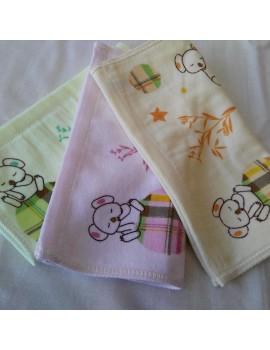 Детские велюровые салфетки размер 25*25 см (в уп. 20 шт) Отличное качество