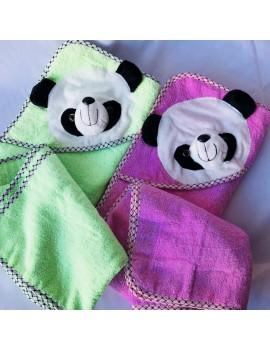 """Детское полотенце-уголок для купания """"Панда"""", размер 85*85 см"""