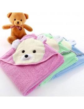 """Детское полотенце-уголок для купания """"Белый мишка"""", размер 85*85 см"""