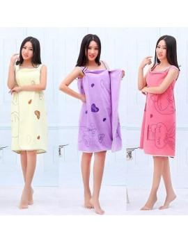 БАННОЕ полотенце-халат. Микрофибра Зайки оптом , Арт. 28